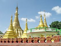 Shwe Muay Wan Temple. Shwe Muay Wan Paya is a Myawaddy's most important temple,a traditional bell-shaped stupa gilded with many kilos of gold and topped by more stock photos