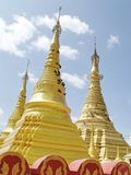 Shwe Muay Wan Temple. Shwe Muay Wan Paya is a Myawaddy's most important temple,a traditional bell-shaped stupa gilded with many kilos of gold and topped by more royalty free stock photo