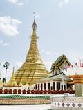 Shwe Muay Wan Temple. Shwe Muay Wan Paya is a Myawaddy's most important temple,a traditional bell-shaped stupa gilded with many kilos of gold and topped by more royalty free stock images