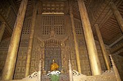 Shwe Nandaw Kyaung Monastery Mandalay Royalty Free Stock Photography