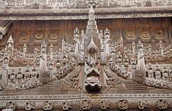 Shwe Nandaw Kyaung Monastery Mandalay Royalty Free Stock Image