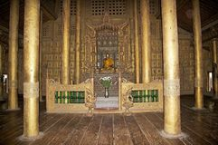 Shwe Nandaw Kyaung Monastery Mandalay Royalty Free Stock Photo