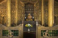 Shwe Nandew修道院- Amarapura -缅甸 免版税库存照片