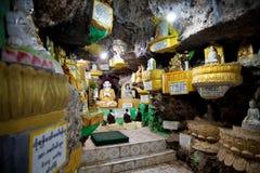 Shwe Oo Min Paya grotta, Myanmar Arkivbilder