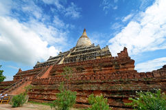 Shwe Sandaw Pagoda in Bagan, Myanmar. On the topmost terrace ris Stock Image