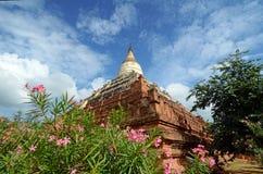 Shwe Sandaw Pagoda in Bagan, Myanmar. On the topmost terrace ris Stock Photography