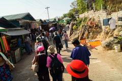 Shwe-Schlund Daw-Pagode Myanmar oder Birma Stockbild