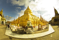 Shwe Si去的塔, Bagan 库存照片