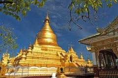 Shwe sigo pagoda. The one of great pagoda in Myanmar at Bagan Stock Photo