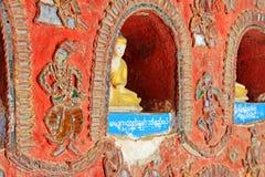 Shwe Yan Pyay Monastery Buddha Image, Nyaungshwe, Myanmar Stock Photos