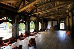 Shwe Yan Pyay Monastery And Monk, Nyaungshwe, Myanmar Royalty Free Stock Photos