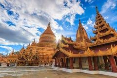Shwe Zi Gon Paya in Myanmar. Shwe Zi Gon Paya Temple in Bagan-Nyaung U, Myanmar Stock Photos