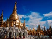 Shwedagon塔仰光缅甸 图库摄影