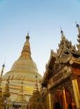 Shwedagon塔在仰光,缅甸 免版税库存图片