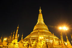 Shwedagon塔在仰光,缅甸 免版税图库摄影