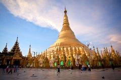 Shwedagon塔,缅甸 图库摄影