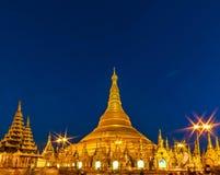 Shwedagon塔,缅甸 库存图片