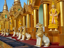 shwedagon ναός yangon Στοκ Εικόνες