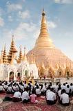 塔shwedagon 免版税图库摄影