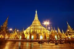 塔shwedagon 图库摄影
