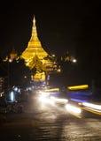 Shwedagon. The Shwedagon Pagoda at night, Yangon, Burma, Southeast Asia Royalty Free Stock Image