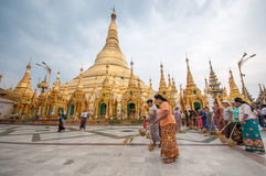 Shwedagon塔 免版税图库摄影