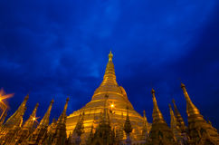 Shwedagon golden pagoda Stock Photos
