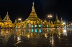 Shwedagon golden pagoda at night, Yangon,Myanmar Royalty Free Stock Photo
