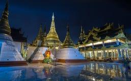 Shwedagon golden pagoda at night, Yangon,Myanmar Stock Photos
