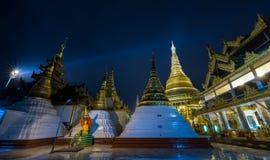 Shwedagon golden pagoda at night, Yangon,Myanmar Stock Image