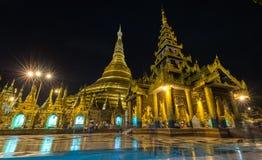 Shwedagon golden pagoda at night, Yangon,Myanmar Royalty Free Stock Images