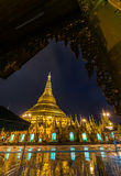 Shwedagon golden pagoda at night, Yangon,Myanmar Stock Images