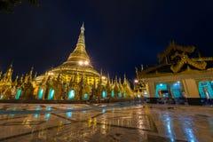 Shwedagon golden pagoda at night, Yangon,Myanmar Royalty Free Stock Photos