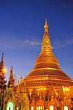 Shwedagon golden pagoda at twilight, Yangon Royalty Free Stock Photography