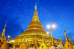 Shwedagon golden pagoda in Yangon, Myanmar (Burma) Royalty Free Stock Photo