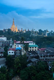 Shwedagon na cidade de Yangon Imagens de Stock