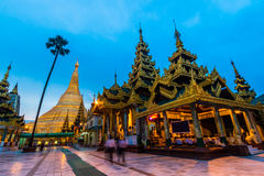 Shwedagon pagod i Myanmar Royaltyfri Foto