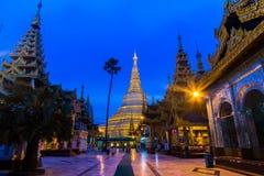 Shwedagon pagod i Myanmar Royaltyfri Fotografi