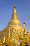 Shwedagon pagod i Rangoon, Myanmar Arkivfoto