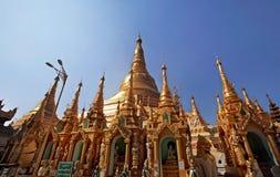 Shwedagon pagod, Myanmar Arkivbilder