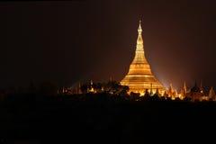 Shwedagon pagod Myanmar Fotografering för Bildbyråer