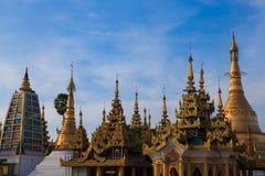 Shwedagon pagod Myanmar Royaltyfri Bild