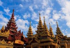 Shwedagon pagod Myanmar Royaltyfri Foto