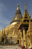 Shwedagon Pagoda 1. The buddhist Shwedagon Pagoda in Yangon, Myanmar, under reconstruction after the typhoon in early 2008 Stock Images