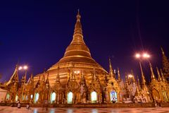 Shwedagon pagoda royaltyfria bilder