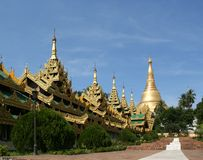 Shwedagon Pagoda. The Shwedagon Pagoda (Rangoon, Myanmar Royalty Free Stock Images