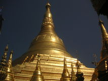 Shwedagon Pagoda. Part of the Shwedagon pagoda structure in Yangon, Myanmar Stock Photo