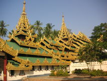 Shwedagon Pagoda. Part of the Shwedagon pagoda structure in Yangon, Myanmar Royalty Free Stock Photos