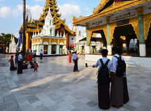 Shwedagon pagoda Royaltyfri Foto