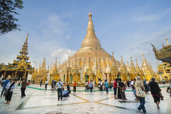 Shwedagon Pagoda, Burma. Royalty Free Stock Photography